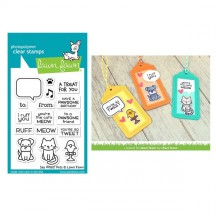 "Lawn Fawn Say What? Pets 3""x4"" Clear Stamp Set LF1962"