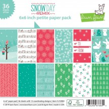 "Lawn Fawn Snow Day Remix 6""x6"" Petite Paper Pack 36 Sheets LF2083"