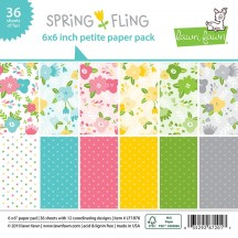 "Lawn Fawn Spring Fling 6""x6"" Petite Paper Pack 36 Sheets LF1876"