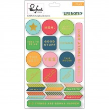 Pinkfresh Studio Life Noted Gold Foiled Chipboard Stickers PFRC200916