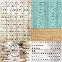 "Prima Lifetime 12""x12"" Typeset Tiny Alphabet Stickers 563301"