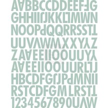 Prima Lifetime Sage Uppercase Canvas Alphabet Stickers 562885