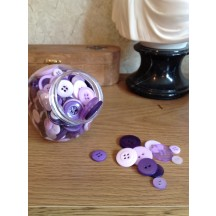 Craftie-Charlie Jar of Buttons - Lilac mix - purples