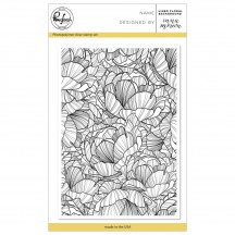 "Pinkfresh Studio Lined Floral Background 4""x6"" Clear Background Stamp PFCS1618"