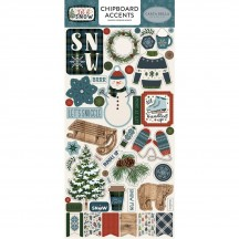Carta Bella Let It Snow Self Adhesive Chipboard Accents Stickers CBIS92021