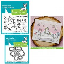 Lawn Fawn A Little Sparkle Clear Stamps & Die Set LF1818 LF1819
