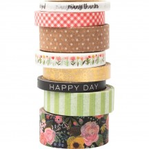 Pebbles Lovely Moments Washi Tape Rolls 736902