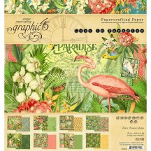 "Graphic 45 Lost In Paradise Designer 8""x8"" Paper Pad 24 sheets 4501892"