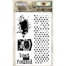 "7 Dots Studio Lost and Found 4""x6"" Clear Stamp Set"