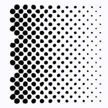 7 Dots Studio Lost and Found Wonky Halftone Mask SDCH9012