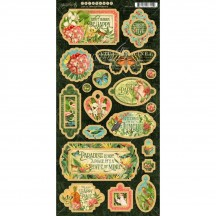 Graphic 45 Lost in Paradise Die-Cut Decorative Chipboard Sheet 4501895