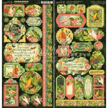 "Graphic 45 Lost in Paradise 12""x12"" Die-cut Cardstock Element Stickers 4501896"