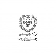 "Marion Smith Designs Love U 3""x4"" Clear Stamp Set"