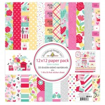 "Doodlebug Love Notes 12""x12"" Paper Pack 6608"