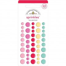 Doodlebug Love Notes Love Assortment Sprinkles Enamel Dots 6573