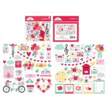 Doodlebug Love Notes Odds & Ends Die-Cut Cardstock Ephemera 6601