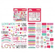 Doodlebug Love Notes Chit Chat Die-Cut Cardstock Ephemera 6603