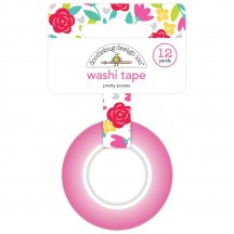 Doodlebug Love Notes Pretty Posies Decorative Washi Tape 6570