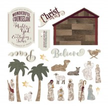 Photoplay Luke 2 Ephemera Die Cut Christmas Cardstock Pieces LT4345