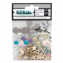 American Crafts Vicki Boutin Let's Wander Mixed Embellishment Pack 355340