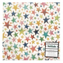 "American Crafts Vicki Boutin Let's Wander Star Champagne Gold Foil Vellum 12""x12"" Sheet 355313"