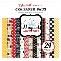 "Echo Park Magical Adventure 6""x6"" Double-Sided Paper Pad 24 Sheets MA109023"