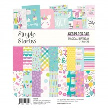 "Simple Stories Magical Birthday 6""x8"" Double-Sided Paper Pad 12914"