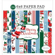 "Carta Bella Merry Christmas 6""x6"" Double-Sided Paper Pad MC107023"