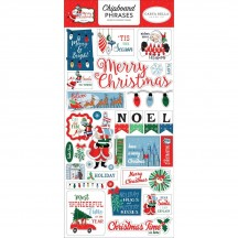 Carta Bella Merry Christmas Self Adhesive Chipboard Phrases Stickers MC107022