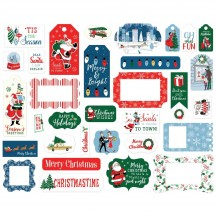 Carta Bella Merry Christmas Frames & Tags Ephemera Die Cut Cardstock Pieces MC107025