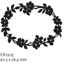 Marianne Designs Craftables - Flowerborder (Oval) CR1215
