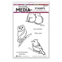 Dina Wakley Media Scribbly Birds On Branches Cling Mount Set Collection from Ranger MDR46080