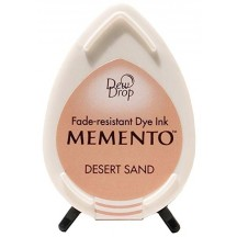 Tsukineko Memento Dye Ink Dew Drop Pad - Desert Sand - Brown Cream