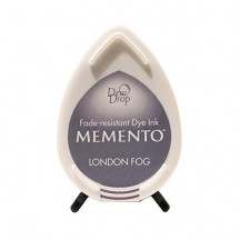 Tsukineko Memento Dye Ink Dew Drop Pad - London Fog - Grey