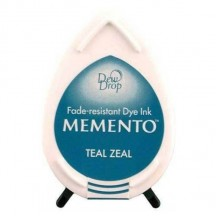 Tsukineko Memento Dye Ink Dew Drop Pad - Teal Zeal