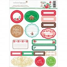 Webster's Pages Gingerbread Village Memory Pockets & Labels WSK04