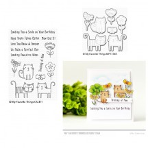 My Favorite Things Meow Mix Clear Stamp & Die Set