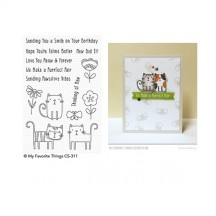 My Favorite Things Meow Mix Clear Stamps CS-311