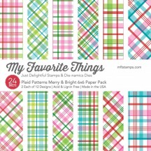 "My Favorite Things Plaid Patterns Merry & Bright 6""x6"" Christmas Paper Pack"