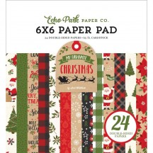 "Echo Park My Favorite Christmas 6""x6"" Double-Sided Paper Pad 24 Sheets MFC190023"