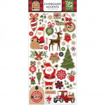 Echo Park My Favorite Christmas Self Adhesive Chipboard Accent Shape Stickers MFC190021