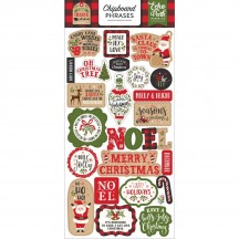 Echo Park My Favorite Christmas Self Adhesive Chipboard Phrases Stickers MFC190022