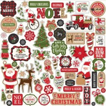 "Echo Park My Favorite Christmas 12""x12"" Element Shape Stickers MFC190014"