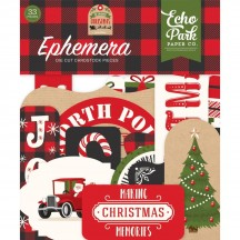 Echo Park My Favorite Christmas Ephemera Die Cut Cardstock Pieces MFC190024