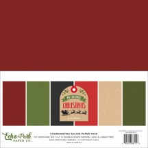 "Echo Park My Favorite Christmas 12""x12"" Solids Paper Kit MFC190015"