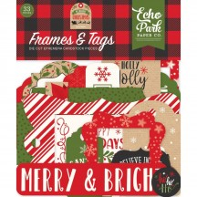 Echo Park My Favorite Christmas Frames & Tags Ephemera Die Cut Cardstock Pieces MFC190025