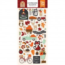 Echo Park My Favorite Fall Self Adhesive Chipboard Accent Shape Stickers MF187021