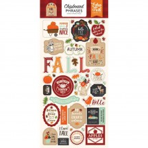 Echo Park My Favorite Fall Self Adhesive Chipboard Phrases Shape Stickers MF187022