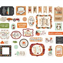Echo Park My Favorite Fall Ephemera Die Cut Cardstock Pieces MF187024