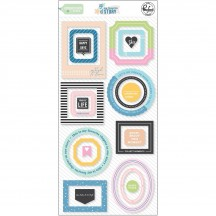 Pinkfresh Studio My Favorite Story Frames & Elements Chipboard Stickers PFRC101120